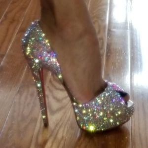 Christian louboutin volpi Swarovski heels